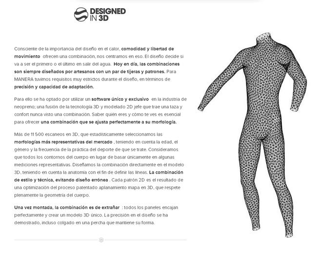 MANERA Tecnologia Neopreno Diseñado en 3D